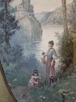 Barokk akvarell festmény