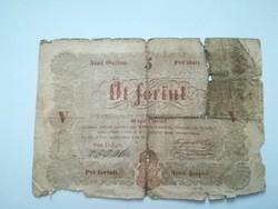 1848-as 5 Forint Kossuth bankó