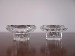 2 db kristály üveg gyertyatartó