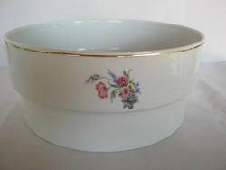 Hollóházi porcelán virágos pogácsás tál