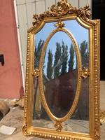 Puttós/angyalos barokk stílusú aranyozott tükör