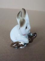 Zsolnay porcelán - nyuszi figura -