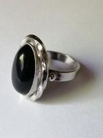 Modern onix köves ezüst gyűrű