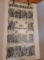 Via Dolorosa     (falra akasztható Jeruzsálemben vásárolt emléktárgy héber írás is olvasható rajta)