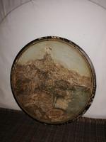1,-Ft 1800-as évekből gyönyörű antik majolika tál!