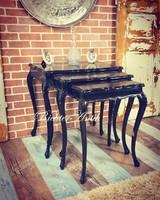 Antik bútor, Barokk szalon asztal 3db-os.