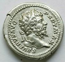 SEPTIMIUS SEVERUS AR 3.37GR;20MM DENARIUS szép állapotban