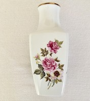 Hollóházi Porcelán Váza Rózsás Díszváza 24,5 cm