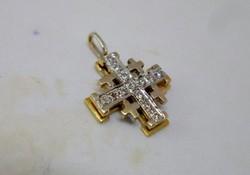 Különleges Jeruzsálemi aranymedál gyémántokkal