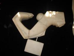 IOAN SEV  ismert francia szobrász   :   modern  fehér márvány szobor  1940  .  mérete 33x30x10 cm