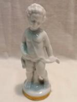 Nápolyi porcelán putto figura