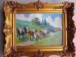 B. Bélaváry István olaj karton 25x40cm