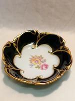 JLMenau porcelán Echt Kobalt tálka aranyozott peremmel