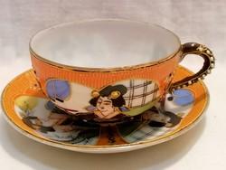 Japán porcelán csésze és alj
