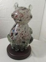 Muránoi cica váza