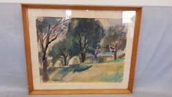Tenkács Tibor akvarell