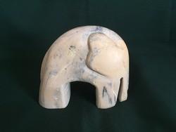Art deco elefánt szobor kőböl 14 cm