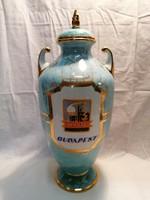 Hollóházi porcelán váza 40 cm