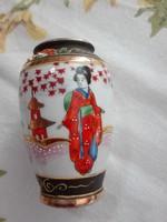Régi jelzett SATSUMA japán porcelán váza