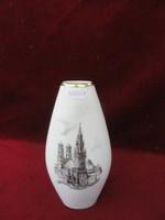 LINDNER KUEPS Bavaria német porcelán váza. 257 típusszámú, Münchent ábrázoló képpel.