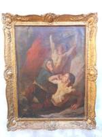 Vydai Brenner Nándor ( 1903- 1949 ) Bányaomlás / Átütő erejű, drámai festmény, a '40-es évekből.