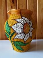 Vidám, dekoratív napraforgós váza