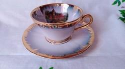 Eigl mokkás csésze kastély képpel a csészében