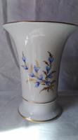 Höchst kék virágos váza kézzel festett