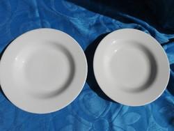 Öreg - jelzett - fehér tányér pár