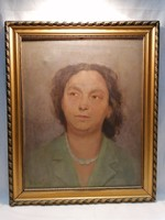 Wessel 1956 női portré olaj-vászon festmény