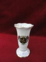 WR német porcelán váza, HEIDELBERG címerével. Magassága 9,5 cm.