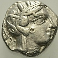 Attika Athén ezüst Tetradrachma    17,08g,  23mm.