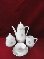 Hollóházi porcelán kávéskészlet 14 darabos, nagyon ritka mintázattal.