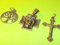 Vallási Jézus - Kereszt - Életfa  Medál csomag 3 db-os