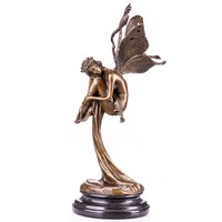 Pihenő tündér - monumentális bronz szobor