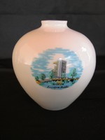 Balatoni emlék retro Hollóházi porcelán váza Siófok Európa Szálló