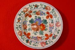 Antik hollóházi virág mintás tányér