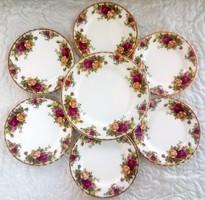 Royal Albert rózsás süteményes készlet Old Country Roses