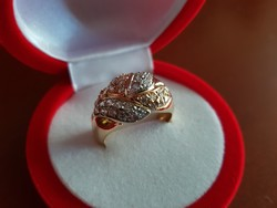Meseszép 14K arany gyűrű 39 db cirkónia kővel / 5,98 g