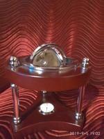 Földgömb.Gravirozott üveg asztali disz