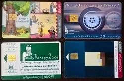 8 db Matáv telefonkártya (  50 ezres kibocsátásúak )