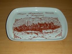 Alföldi porcelán tálca Magyar Haematologiai Társaság Szeged 1984 (24/d)