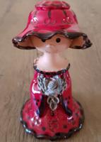 Kalapos hölgy - piros