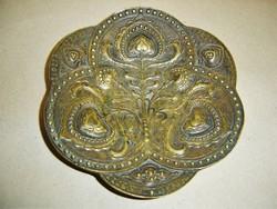 Magyar szecesszió - bronz tál Hirmann Ferenc Fémárugyárából