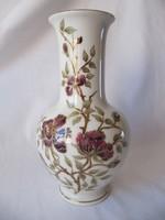 Kézzel festett, aranyozott Zsolnay váza