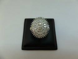 Modern arany gyűrű sok apró gyémánttal