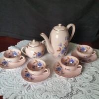 Zsolnay: Rózsaszínű kávéskészlet,100 éves