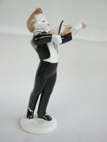 Hollóházi porcelán hegedűs kisfiú