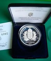Magyar Köztársaság emlékérem - Ag925, PP- 1990 - dobozban - sorszámozott tanúsítvánnyal