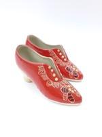 Piros kerámia cipő pár - vörös cipellők
